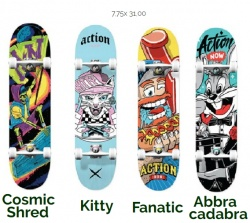 "Action Now Skate 8,5"" Colore: Mix"